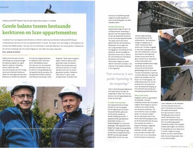 Photo:Article in magazine 'Bouwen in het oosten'