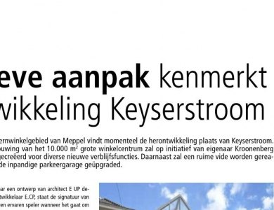 Photo:Article on Keyserstroom in magazine Stedenbouw