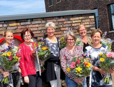 Foto bij:Flowers for the ladies!