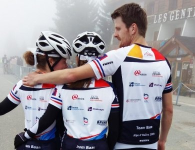 Photo:Team Baan on the Alpe D'Huzes!