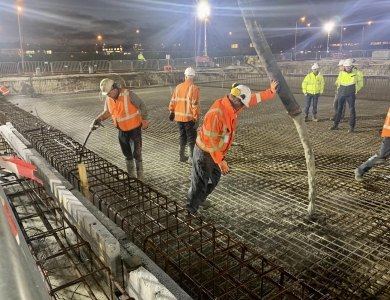 Photo:Pouring floor MSD Haarlem
