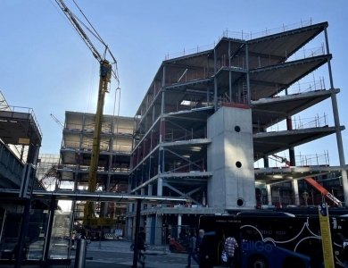 Foto bij:Optopping 1e blok Stationoffices Almere!
